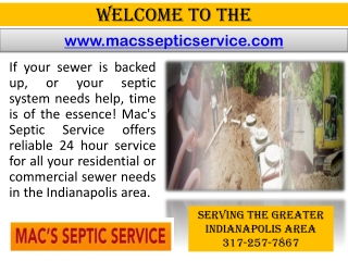 Sewer cleaning Indianapolis - Septic tank cleaning - Sewer replacement
