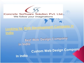 looking for web design company in india