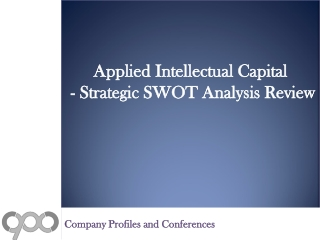 SWOT Analysis Review on Applied Intellectual Capital