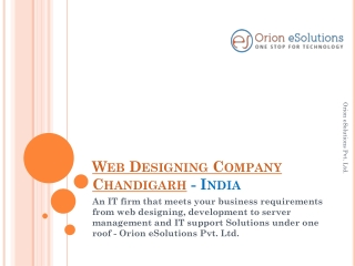 Web designing company Chandigarh India
