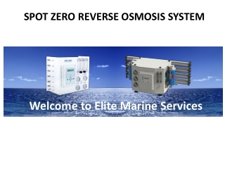 Spot Zero Reverse Osmosis System