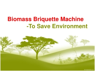 Biomass Briquette Machine Provides Bio Fuel Briquettes