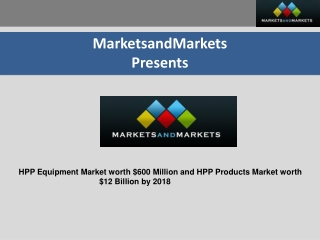 HPP (High Pressure Processing) Market
