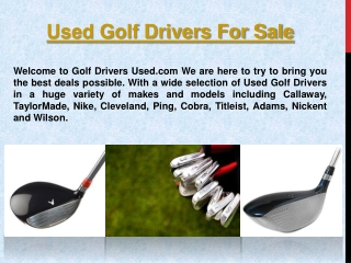 Golf Drivers Used