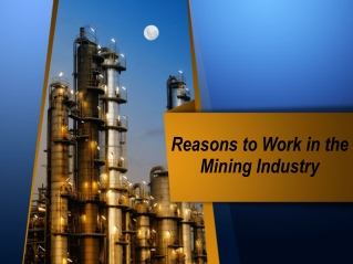 Reasons to Work in the Mining Industry