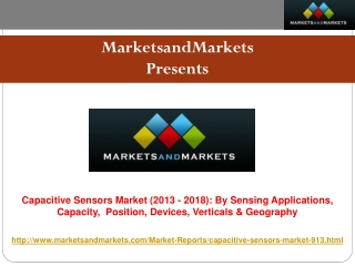 Capacitive Sensors Market worth $17.89 billion - 2018