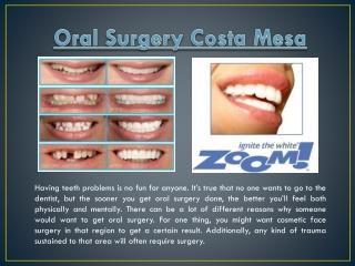Oral Surgery In Costa Mesa