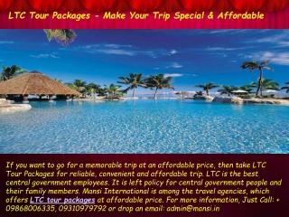 LTC Tour Packages – Make Your Trip Memorable