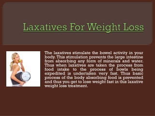 Laxatives To Lose Weight