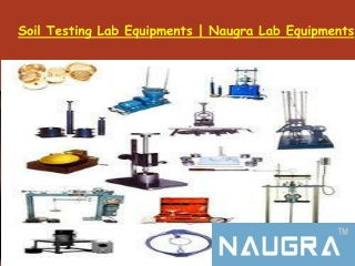 Soil Testing Lab Equipments Manufacturer
