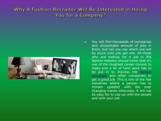 Fashion Recruiters