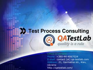 test process consulting