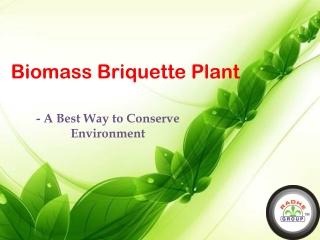 Biomass Briquette Plant is a Best Way to Conserve Environmen
