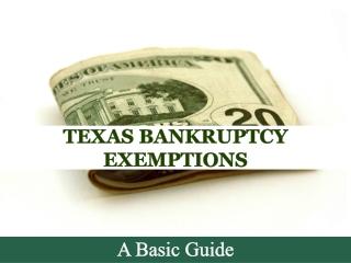 Texas Banktrupty Exemptions