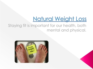 Nutritional Supplements For Fat Loss