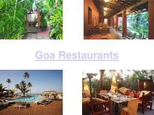 Restaurants of Goa