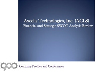 SWOT Analysis Review on Axcelis Technologies, Inc. (ACLS)