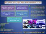 Vauxhall Xenon HID Xenon Lights Kit