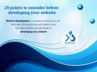 25 points to consider before developing your website