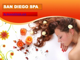 San Diego Spa Is A Key Element In Helping Us Relax And Feel