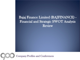 SWOT Analysis Review on Bajaj Finance Limited (BAJFINANCE)