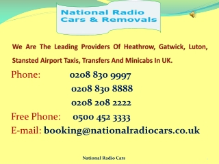 Heathrow Airport Taxi Service