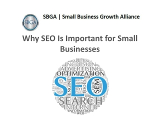 SBGA on Why SEO is Important for Small Businesses