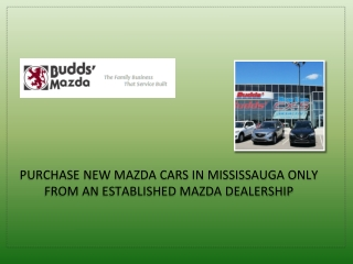 Purchase New Mazda Cars in Mississauga Only From an Establis