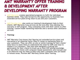 AMT Warranty Offer Training