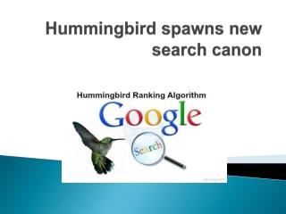 Hummingbird Algo Update 2014