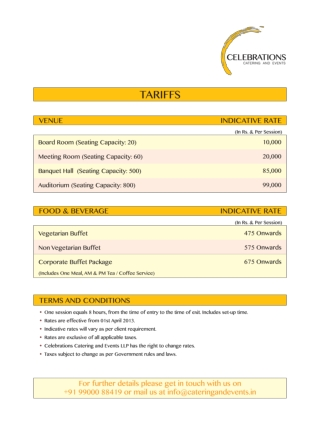 Event Organizition Celebration_Rate_Card
