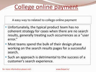 Provide first-rate quality of college online payment