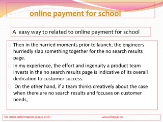 If you  want to submit online payment  for school