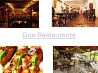 Top Restaurants of Goa