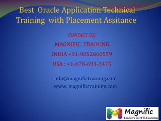Best  Oracle Application Technical Training  with Placement
