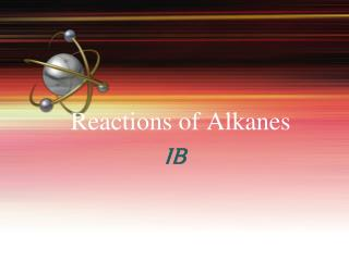 reactions of alkanes