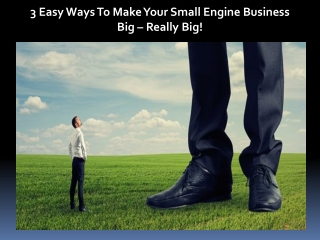 3 Easy Ways To Make Your Small Engine Business Big – Really