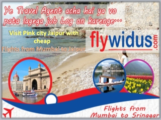 Book Flights from Mumbai to Jaipur