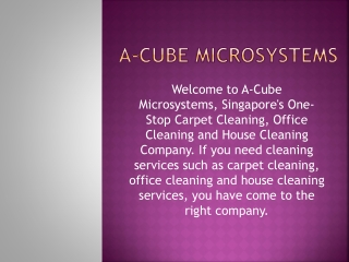 Office/House Carpet Cleaning Services in Singapore