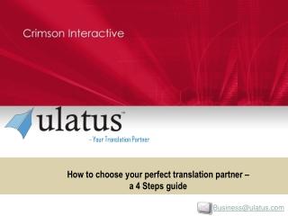 How To Choose Your Translation Partner