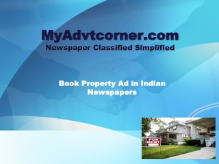 Book Property Ad in Newspaper