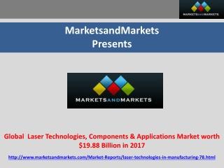Global Laser Technologies Market worth $19.88 Billion in 201
