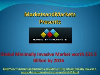 Minimally Invasive Market by 2016