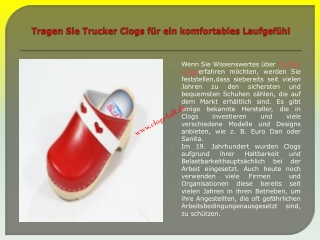 Trucker Clogs