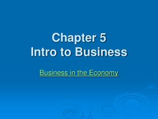 chapter 5 intro to business