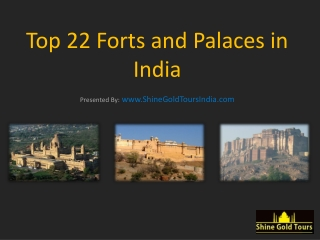 Historical Forts and Palaces of India