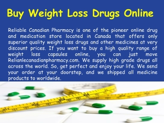 Buy Online Weight Loss Capsules without Prescription