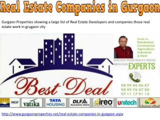 Real Estate Companies in Gurgaon