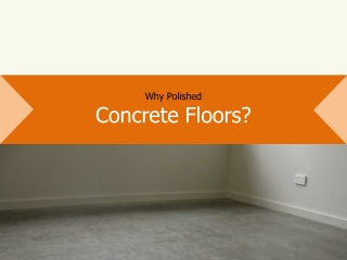 Cost-effective Polished Concrete Floors