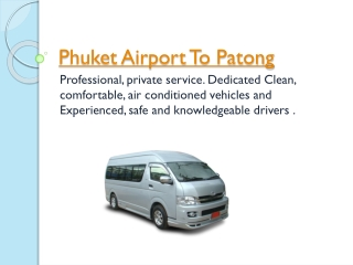Taxi From Phuket Airport To Patong